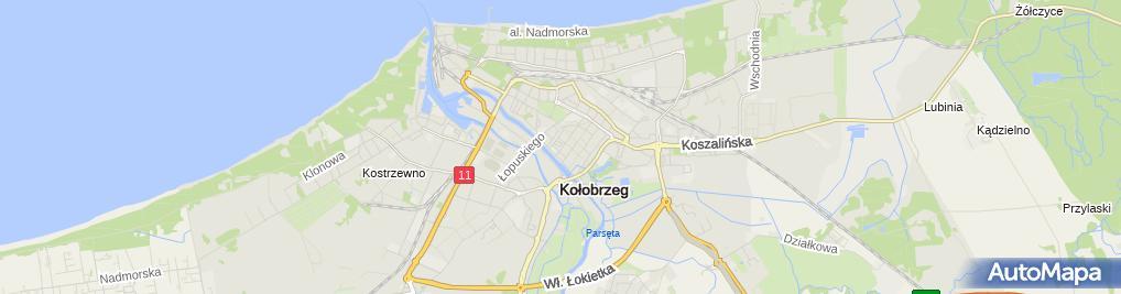 Zdjęcie satelitarne GM Chłodnictwo i Klimatyzacja Grzegorz Milaszkiewicz