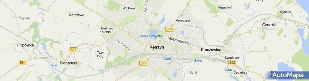 Zdjęcie satelitarne Gminny Ośrodek Pomocy Społecznej w Kętrzynie