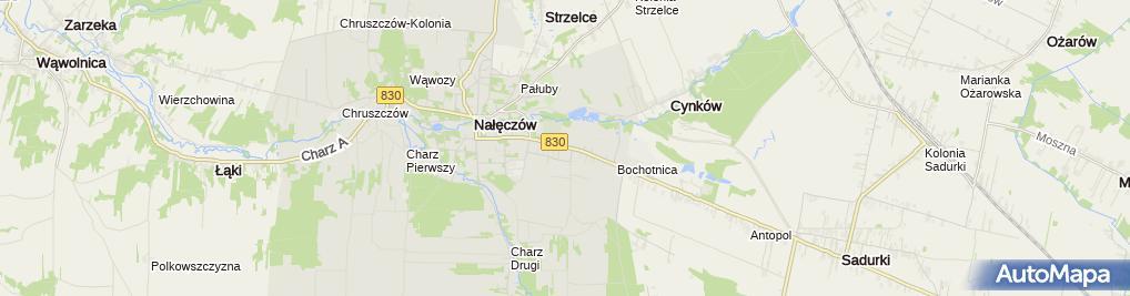 Zdjęcie satelitarne Gminny Związek Rolników Kółek i Organizacji Rolniczych w Nałęczowie