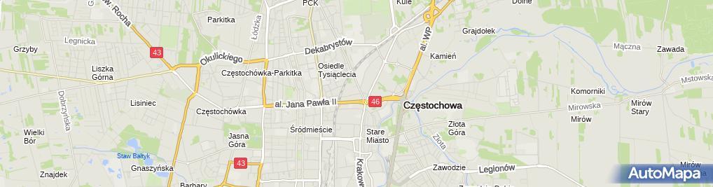 Zdjęcie satelitarne GMT Polska