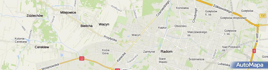 Zdjęcie satelitarne Gniadek Jonczewa Danuta Praktyka Lekarska w Miejscu Wezwania