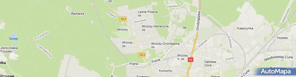 Zdjęcie satelitarne Goleniewski Tomasz Firma Produkcyjno Handlowa Marta