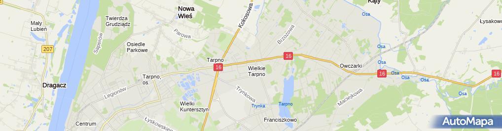 Zdjęcie satelitarne Gospodarstwo Ogrodnicze Dulka Roman i Krystyna