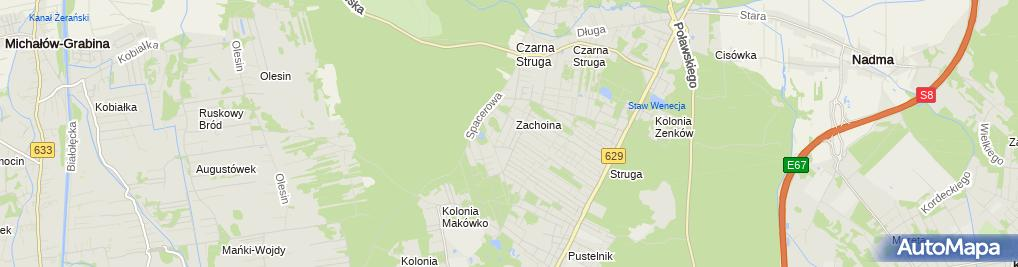 Zdjęcie satelitarne Gospodarstwo Ogrodnicze Jakub Kamiński