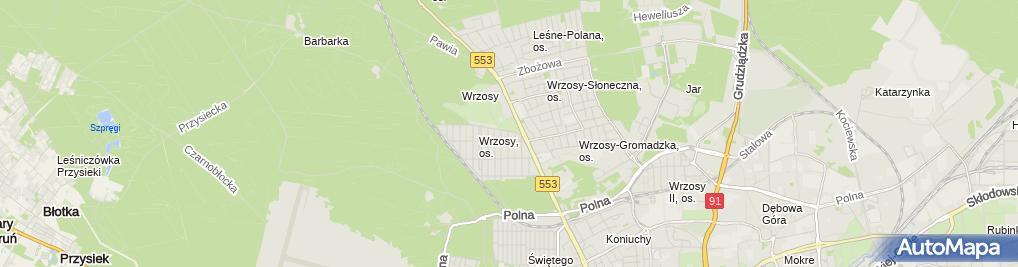 Zdjęcie satelitarne Gospodarstwo Rolne Chruściński Waldemar