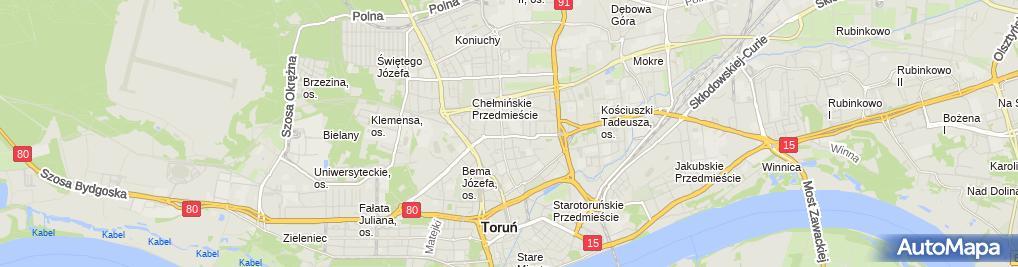 Zdjęcie satelitarne Gospodarstwo Rolne Czerwiński Czesław