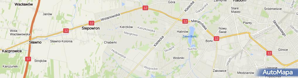 Zdjęcie satelitarne Gospodarstwo Rolne Krzysztof Głowacki