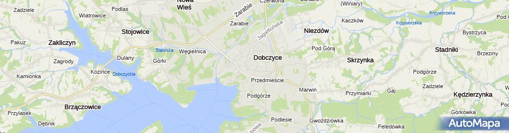 Zdjęcie satelitarne Gospodarstwo Rolne Marta Paś