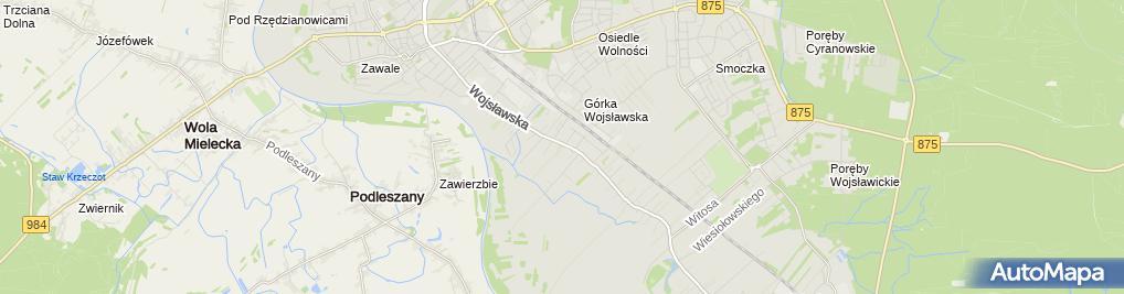 Zdjęcie satelitarne Gospodarstwo Rolne Produkcja Drobiarska Gąsiorek Robert
