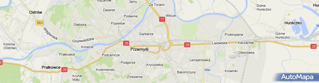 Zdjęcie satelitarne Graniczna Stacja Sanitarno Epidemiologiczna w Przemyślu