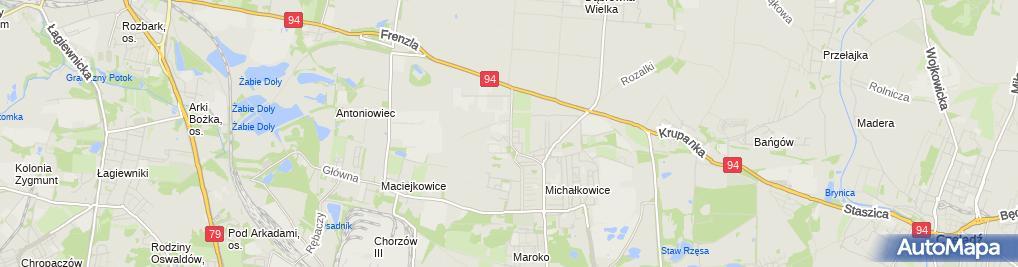 Zdjęcie satelitarne Grażyna Klaus - Działalność Gospodarcza