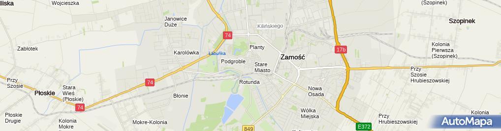 Zdjęcie satelitarne Grażyna Krukowska - Działalność Gospodarcza