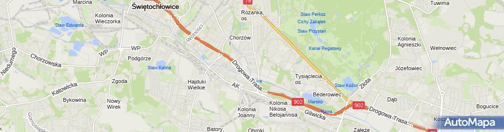 Zdjęcie satelitarne Grażyna Rogowska - Działalność Gospodarcza
