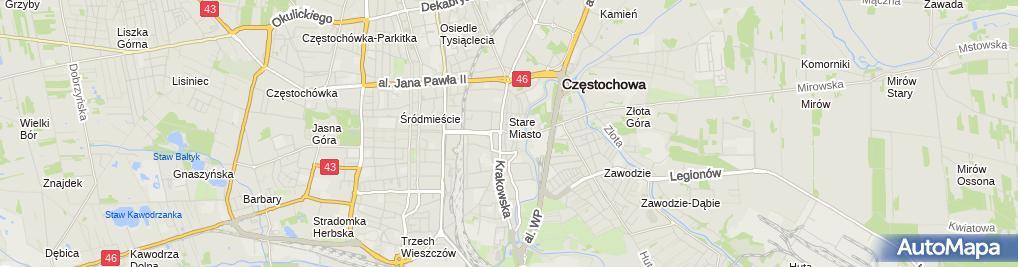 Zdjęcie satelitarne Grono Konserwatorów Zabytków Archeologicznych RP