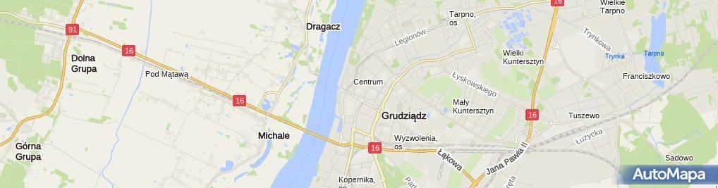 Zdjęcie satelitarne Grudziądzka Organizacja Turystyczna