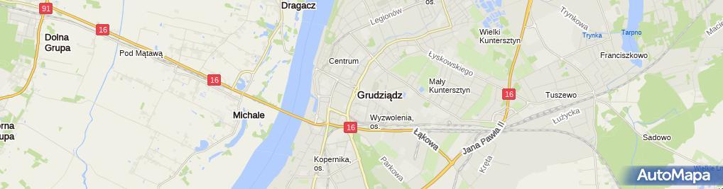 Zdjęcie satelitarne Grudziądzka Spółdzielnia Mleczarska