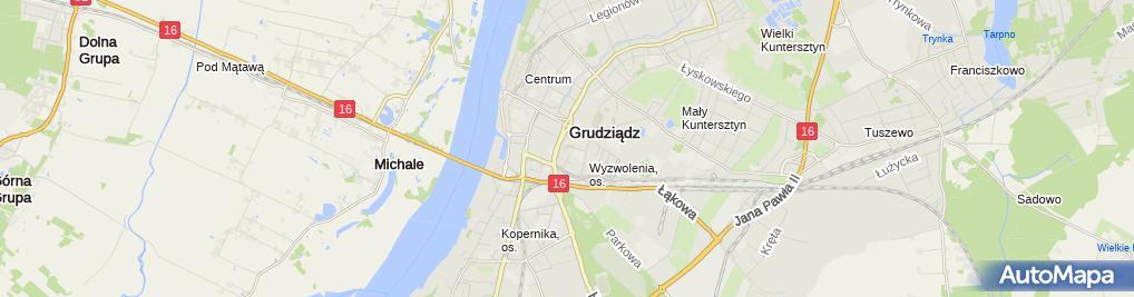Zdjęcie satelitarne Grudziądzkie Towarzystwo Kultury