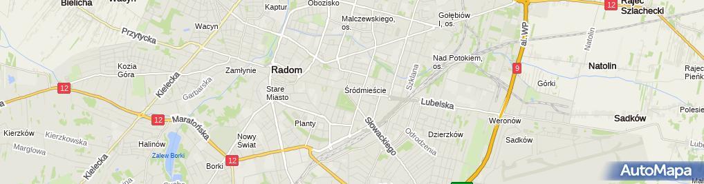 Zdjęcie satelitarne Gruszki Na Wierzbie Michał Grochowiecki
