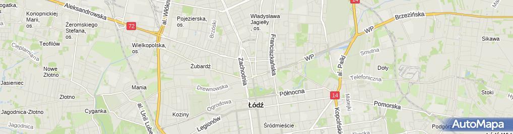 Zdjęcie satelitarne Grzegorz Glinkowski Grzeglin 91-833 Łódź Łagiewnicka 9 m 64