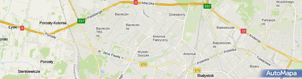 Zdjęcie satelitarne Grzegorz Kakareko - Działalność Gospodarcza