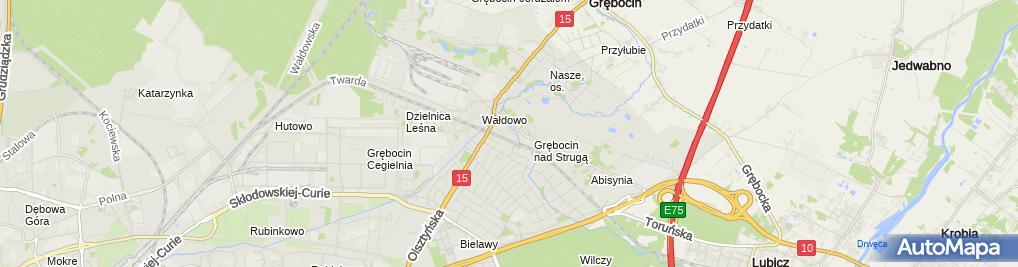 Zdjęcie satelitarne Grzegorz Kurkowski Elzłącz Grzegorz Kurkowski