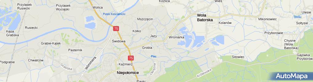 Zdjęcie satelitarne Grzegorz Pałkowski Elektro Med