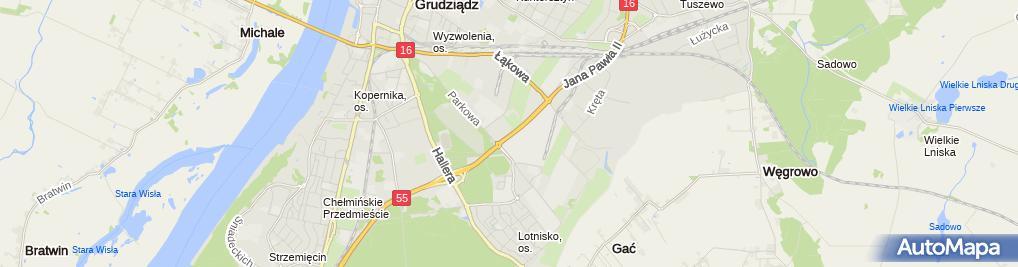 Zdjęcie satelitarne Grzegorz Paradowski - Działalność Gospodarcza