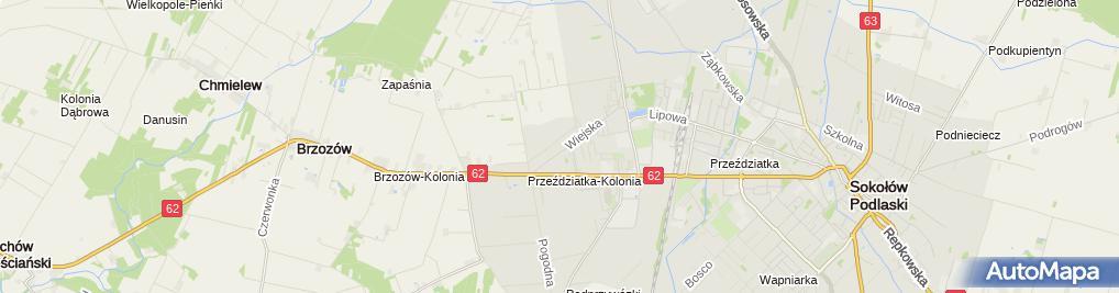 Zdjęcie satelitarne Grzymała Sławomir Mechanika Pojazdowa
