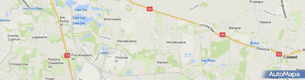 Zdjęcie satelitarne Guz Technika Piekarnicza