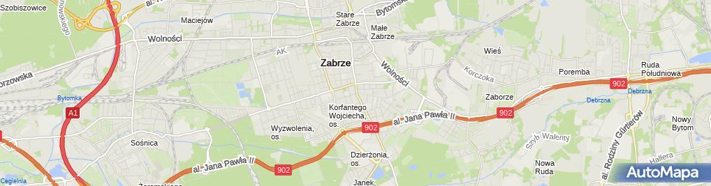Zdjęcie satelitarne Hałakuc Ryszard Wójcik Tadeusz SPC Handel Artykułami Przemysłowymi