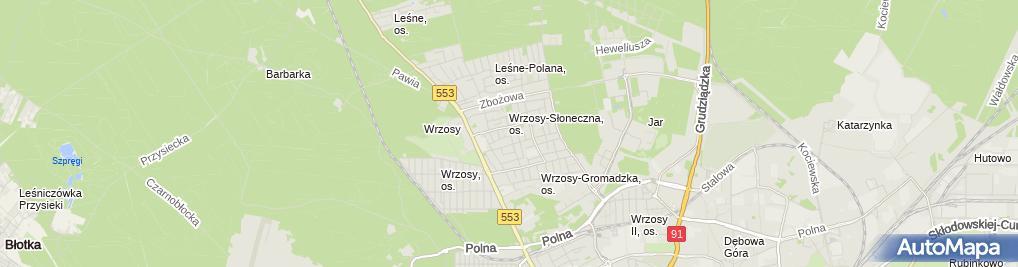 Zdjęcie satelitarne Haliński Marcin Izi Taxi
