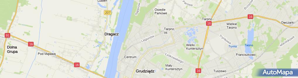 Zdjęcie satelitarne Handar Bike Hanna i Dariusz Włosowscy Dariusz Włosowski