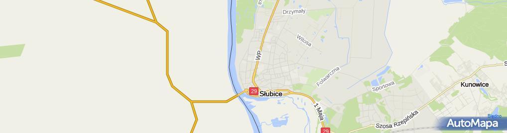 Zdjęcie satelitarne Handel Art Przemysłowymi