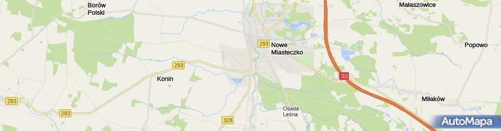 Zdjęcie satelitarne Handel Artykułami Pochodzenia Zagranicznego Justyna Pokojska