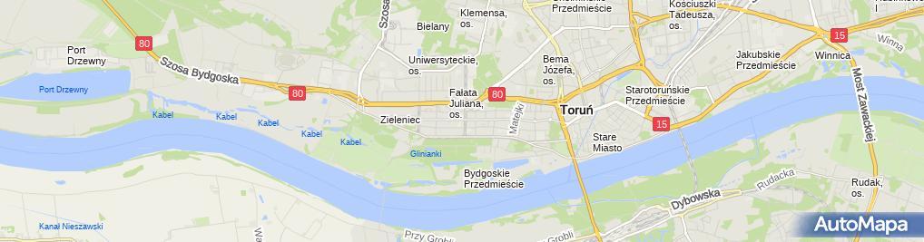 Zdjęcie satelitarne Handel Artykułami Spożywczymi i Przemysłowymi Mimar Alicja Steinke Wiesław Steinke