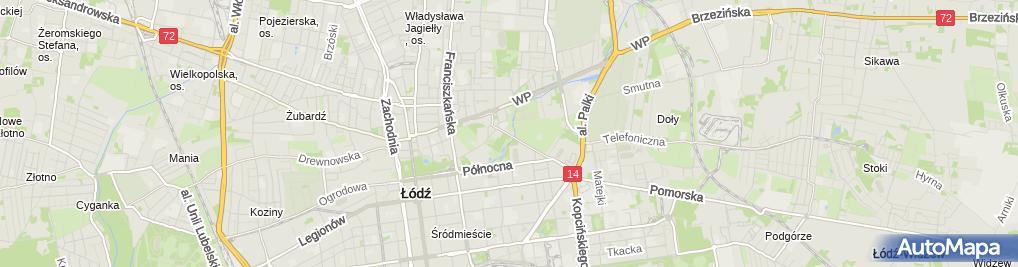 Zdjęcie satelitarne Handel Detal Stacjonarny Teresa Ogrodowska Piotr Tomdała