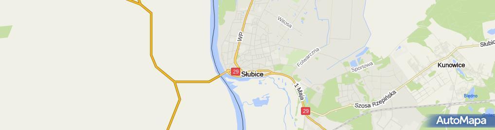 Zdjęcie satelitarne Handel Detaliczny Art Przemysłowymi Bartkowiak B i Bartkowiak w
