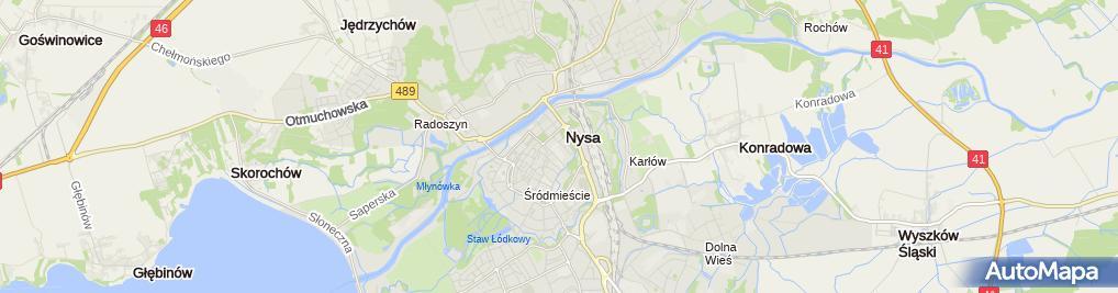 Zdjęcie satelitarne Handel Detaliczny Artyk Spożywczymi Import