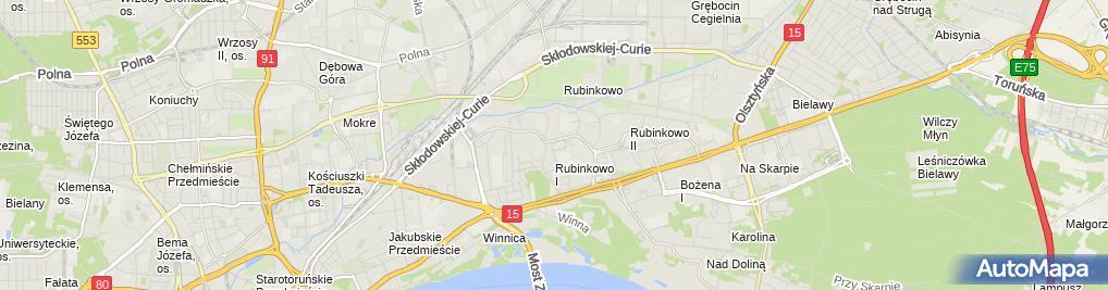 Zdjęcie satelitarne Handel Detaliczny Paweł Górny
