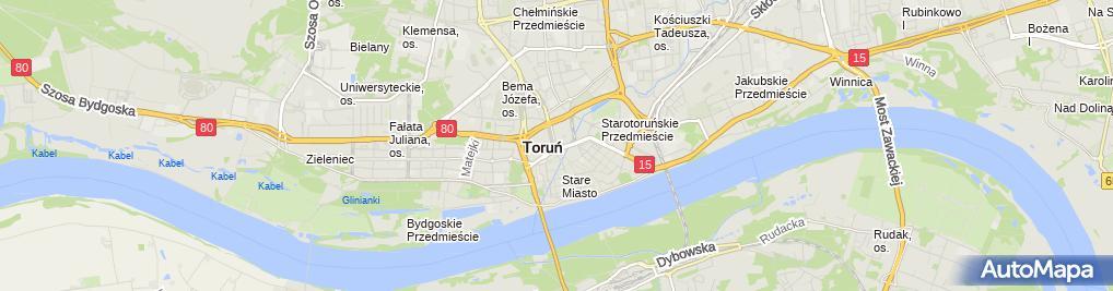 Zdjęcie satelitarne Handel Hurtowy Detaliczny Okrężny