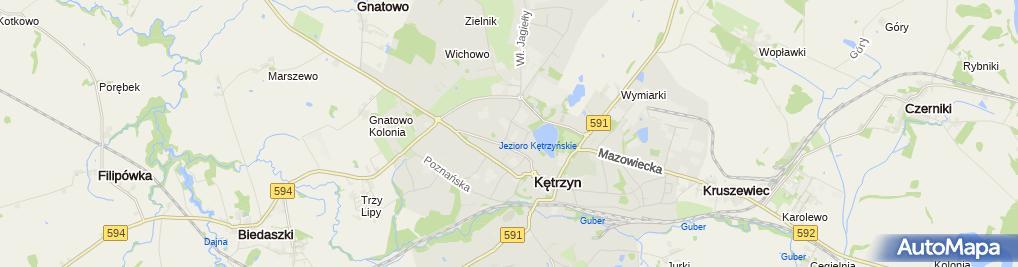 Zdjęcie satelitarne Handel i Usługi Hurt i Detal Elek San Janusz Sobczyński Grzegorz Miller