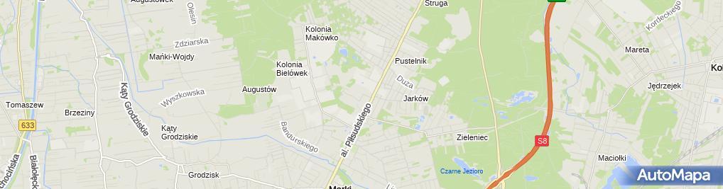 Zdjęcie satelitarne Handel i Usługi War Szafka