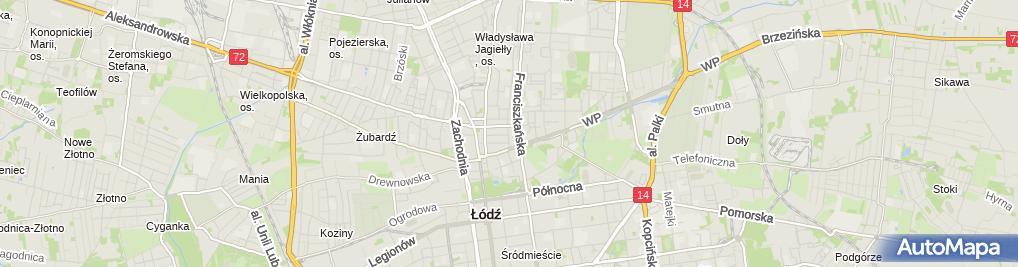 Zdjęcie satelitarne Handel Obwoźny Art Spożywcze i Przemysłowe Jarosław Marciniak
