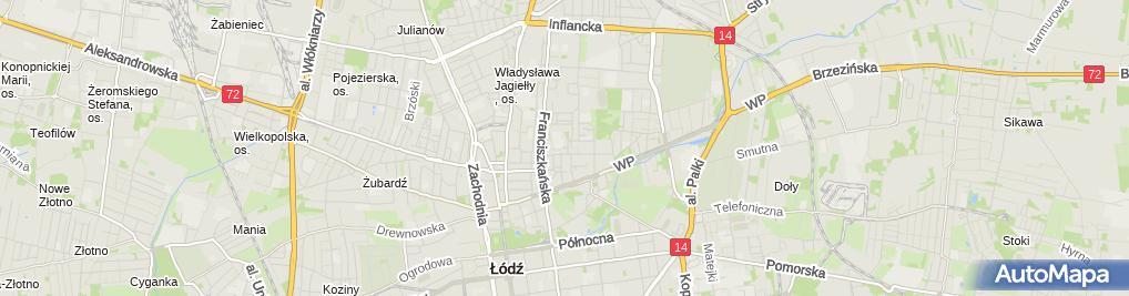 Zdjęcie satelitarne Handel Obwoźny Detal Art Spoż i Przem