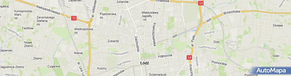 Zdjęcie satelitarne Handel Obwoźny Hurt Detal Art Spoż i Przem