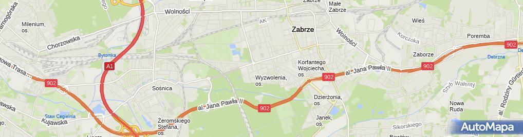 Zdjęcie satelitarne Handel Obwoźny Niklasowska