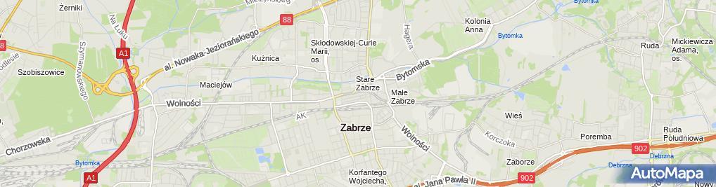 Zdjęcie satelitarne Handel Obwoźny
