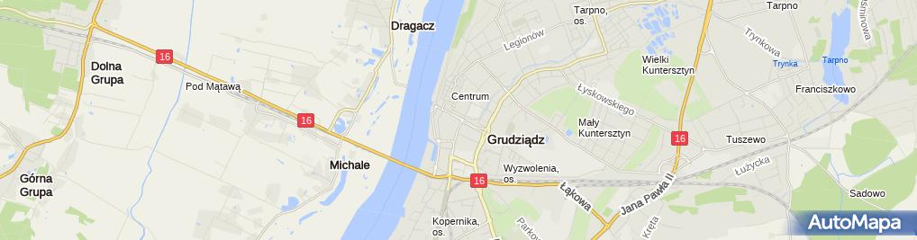 Zdjęcie satelitarne Handel Odzieżą Gabi