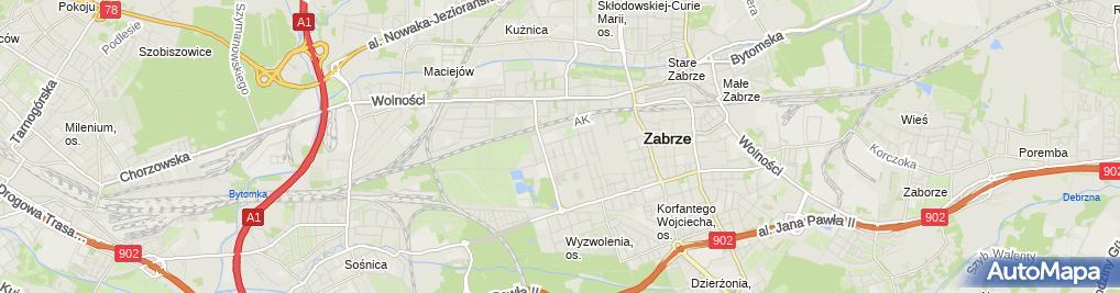 Zdjęcie satelitarne Handel Transport