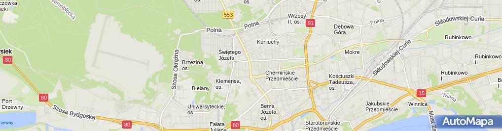Zdjęcie satelitarne Hebisz Paweł Pionier Firma